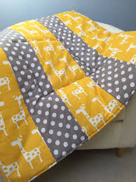 455 best Sew Thoughtful Blankets images on Pinterest | Blankets ... & Plush Baby Play Mat Padded Floor Blanket Personalize Yellow Giraffes Gray  Dots Quilt Tummy Time Newborn Adamdwight.com