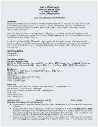 Salesforce Experienced Resumes Sample Resume For Sql Developer Fresher Perfect Salesforce Fresher