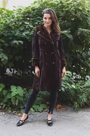 vintage faux fur coat long on up fake fur jacket las or women s overcoat by astraka free fashion