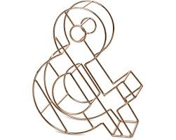 Rose gold wire alphabet letter gifts oliver bonas
