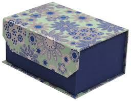 Decorative Holiday Boxes Blue Book Gift Box in Hardboard Handmade in Bulk at Wholesale 74