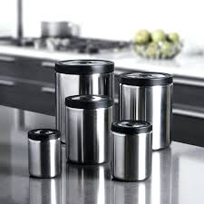 steel canister set 5 piece stainless brushed canisters for kitchen counter