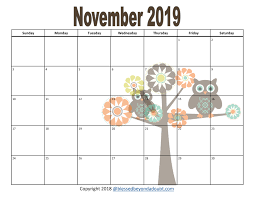 monthly printable calendar free 2019 monthly printable calendars owl themed blessed beyond