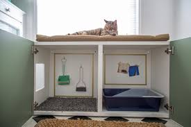 Wooden Litter Box Cabinets How To Conceal A Kitty Litter Box Inside A Cabinet How Tos Diy