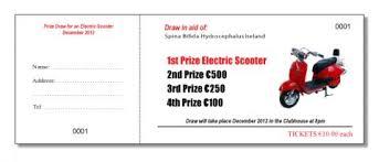 Sample Raffle Tickets Raffle Benefit Night Tickets Baldoyle Print Ltd North Dublin