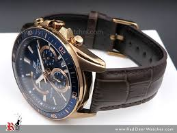 casio edifice rose gold genuine leather band mens watches efr 552gl 2av efr552gl