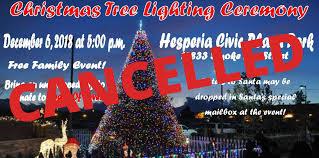 Fontana Tree Lighting Hesperia Christmas Tree Lighting Ceremony Cancelled Vvng Com
