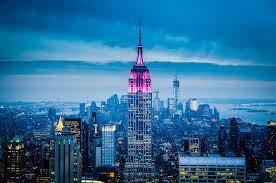 pink concrete building, sky, city ...