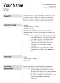 Resume Templates Stunning The 60 Best Resume Templates Fairygodboss