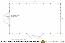 shed floor plans. 14x20 Traditional Shed Floor Plan Plans