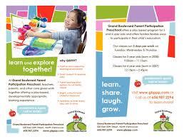 school brochure design ideas preschool pamphlets preschool flyers design client chai