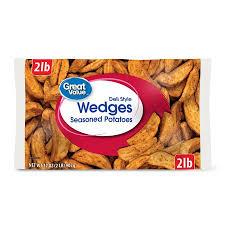 Walmart Deli Nutrition Chart Great Value Deli Style Wedges Seasoned Potatoes 32 Oz