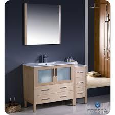 bathroom vanity side lights. fvn62-3612lo-uns - fresca torino 48 in. light oak modern bathroom vanity side lights