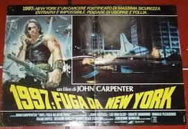 1997 FUGA DA NEW YORK {JOHN CARPENTER} Org. Italian Lobby Card 80s –  Braichposters