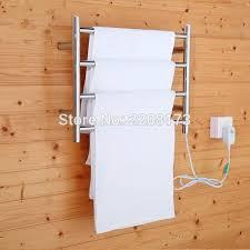 smesiteli new concept of bathroom accessories electric heated towel warmer drying rack 4 bar hanger wall heated towel bar l66