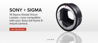 sigma mount converter mc 11 for sony e mount full frame and aps c sensor cameras to be able to use 19 global vision lenses in sigma canon mount eos