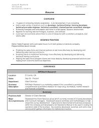 Sales Engineer Resume Jmckell Com