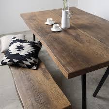 Esstisch Holz Metall Schwarz