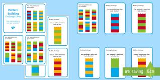 Lego Patterns Gorgeous Building Brick Pattern Challenge Cards Bricks Toy Patterns