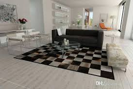 genuine cowhide rug gray and brown patchwork cowhide rug squares design genuine leather hair on hide genuine cowhide rug