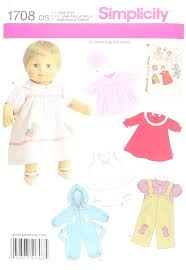 Doll Clothes Patterns Best Amazon Simplicity 48 Baby Doll Clothes Sewing Pattern 48