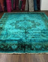 overdyed turquoise rug teal rug turquoise overdyed wool rug