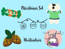 Christmas Vector Bundle Set For Kids 12 Graphic By Vijackstudio Creative Fabrica