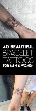 40 Beautiful Bracelet Tattoos For Men Women Tattooblend