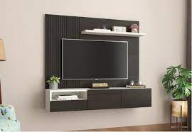 led tv wall stand wooden