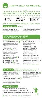 Soup Kitchen Menu Happy Leaf Kombucha