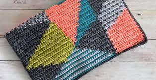 Geometric Clutch Free Crochet Pattern Spin A Yarn Crochet