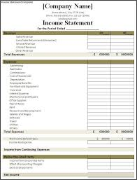 Financial Statement Software Free Income Statement Template Cash Flow Statement Template Sample