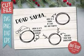 Personalised christmas eve plate / santa treats plate. Dear Santa Cookie Tray Svg The Svg Stop Cuttable Printable Designs