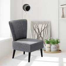 furinno euro modern dark grey fabric armless accent chair