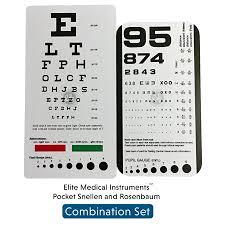 Emi Rosenbaum And Snellen Pocket Eye Charts 2 Pack