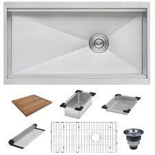 Bisonoffice 33 Workstation Ledge Kitchen Sink Undermount Single