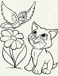 Cute Cats And Bird Pinterest Printable Of Cat Coloring Pages Free