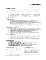 Resume Sample For Executive Assistant Administrative Assistant