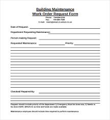 Maintenance Request Form Template Excel Maintenance Work Order Template Hunecompany Com