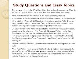 a story of an hour by kate chopin ppt video online  study questions and essay topics
