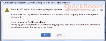 Payroll Download Error Ps077 When Downloading Payroll Updates In Quickbooks