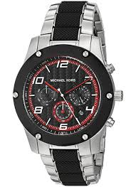 new michael kors mk8474 men 039 s caine silver tone and black 796483240179