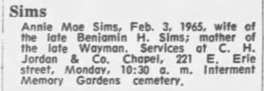 Obituary for Annie Mae Sims - Newspapers.com