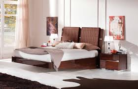 modern bed designs in wood. Modern King Size Floating Master Bedroom Design With Wooden Base And Unusual Rattan Headboard Plus Nightstand Table Drawer Acrylic Lamp Ideas Bed Designs In Wood