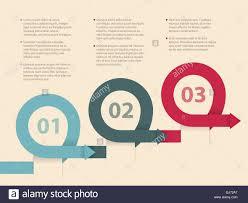 Curling Arrows Infographic Design Stock Vector Art Illustration