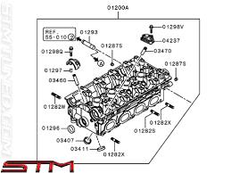 stm oem mitsubishi cylinder head evo viii mn155744 mitsubishi cylinder head evo viii 1700