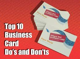 10 Free Business Cards Top 10 Business Card Dos And Donts Flyerzone