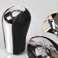 Nice Great 5 Speed PU Leather Car Gear Shift Knob For Toyota ...