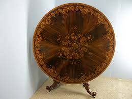 antique superior quality marquetry inlaid circular round large rosewood centre dining table c 1860 la95081 loveantiques com