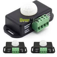 2 X DC 12V/24V <b>Body Infrared PIR</b> Motion Sensor Switch LED Light ...